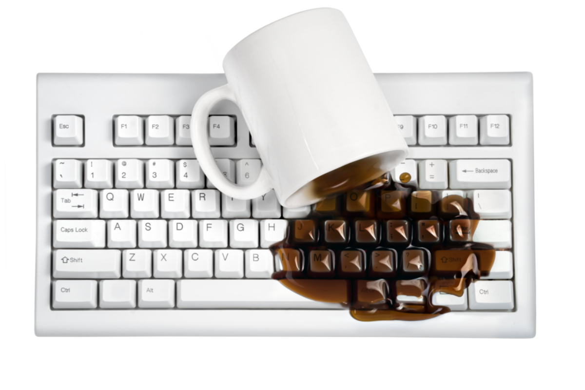 Coffee spilled on Keyboard_Hero_Transparency